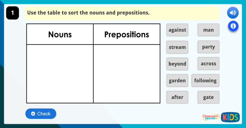 Year 3 Prepositions and Prepositional Phrases