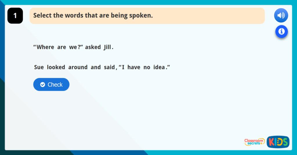 Recognising Direct Speech