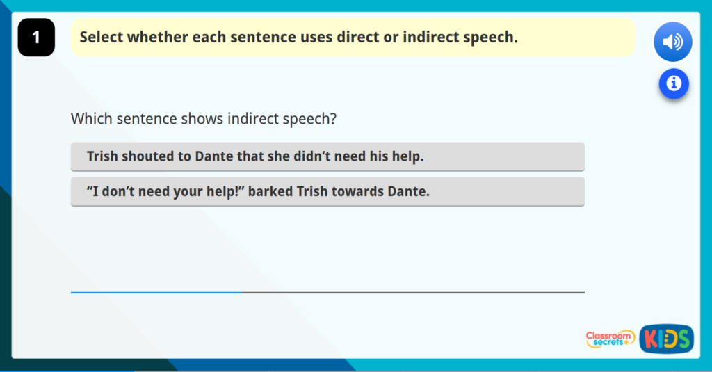 Direct or Indirect Speech Year 4