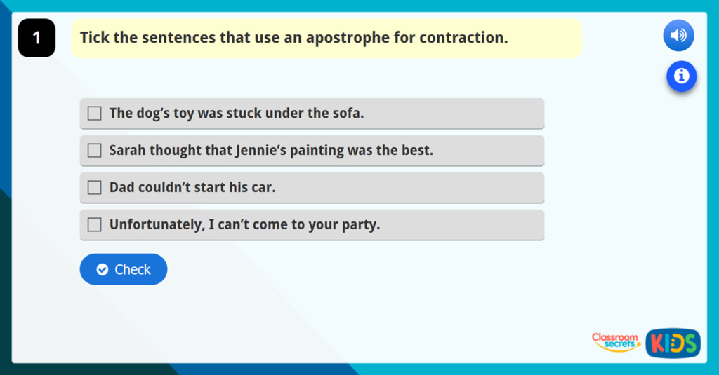 Year 4 Apostrophes Resources