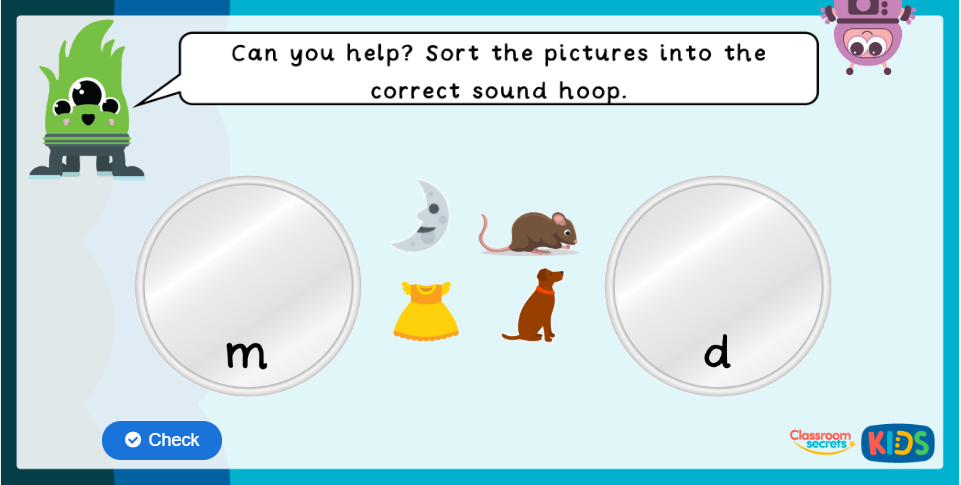 Phase 2 Phonics Interactive Games