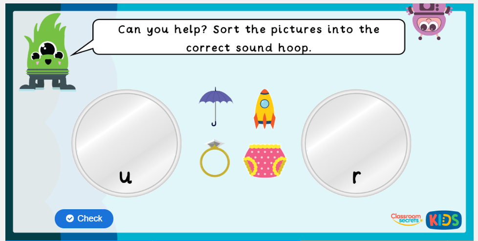Phase 2 Phonics Matching