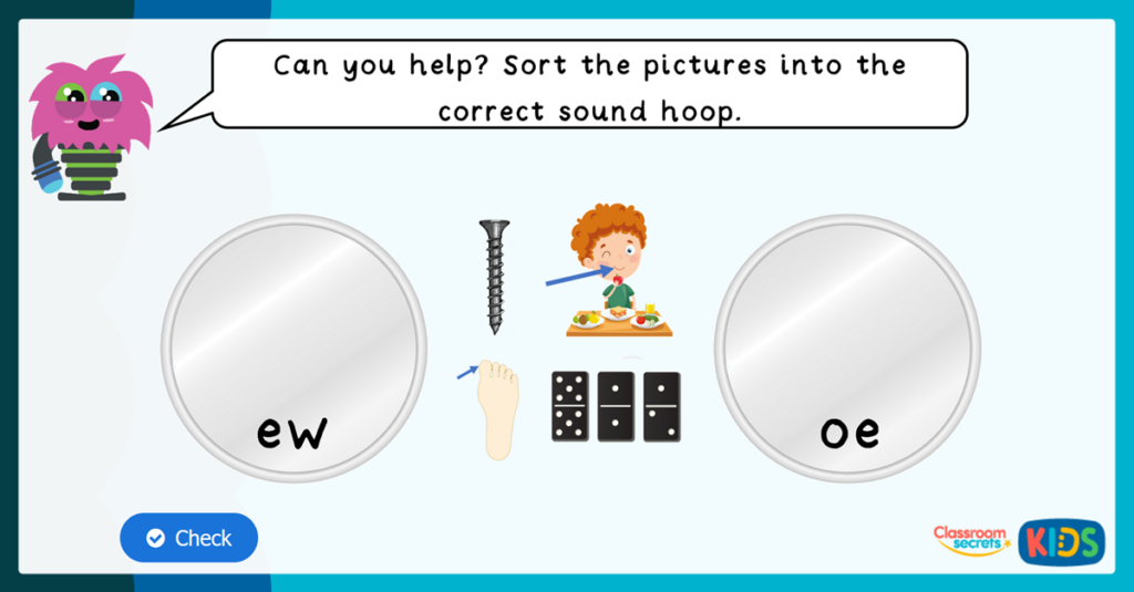 Phase 5 Phonics Match Pictures to Sounds Game 2
