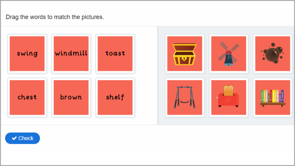 Phonics Year 1 Words to Pictures
