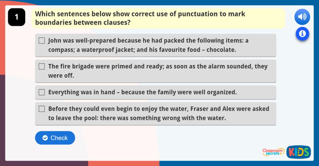 Year 6 Using Punctuation to Mark Boundaries