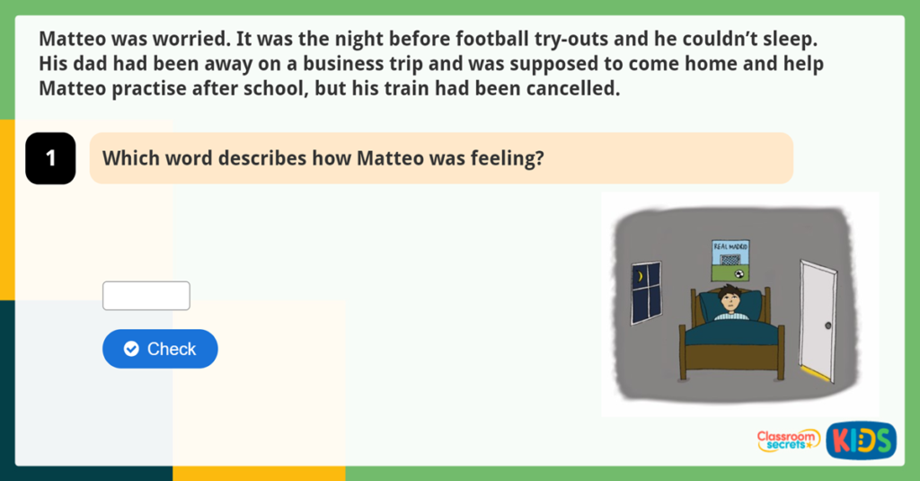 Year 2 Football Reading Comprehension Fiction Go Matteo