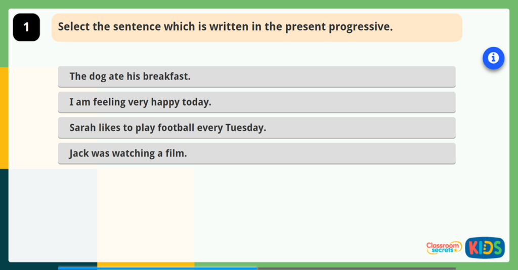Y2 S5-6 Recognising and Using Present Progressive Tense