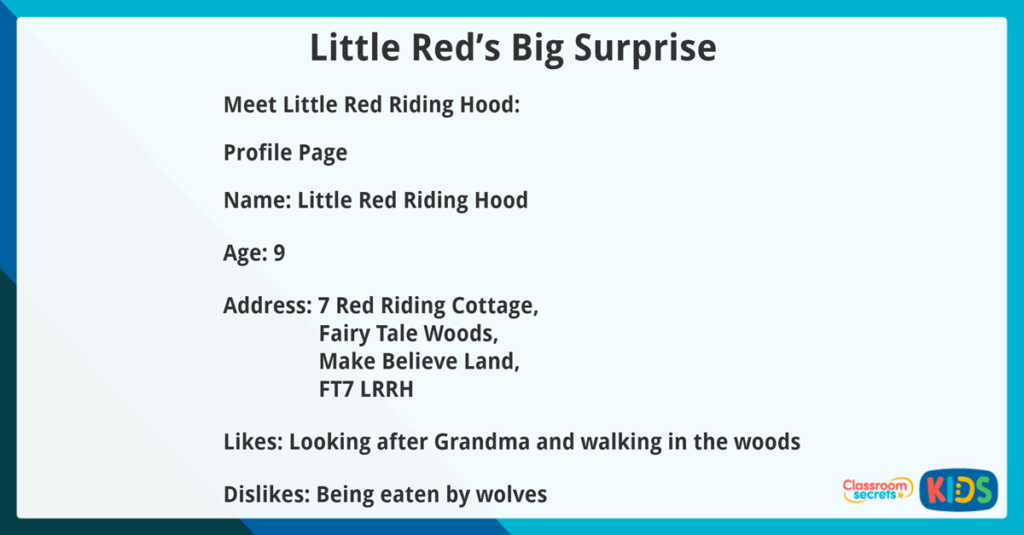 Year 3 Reading Comprehension Fiction Little Red's Big Surprise