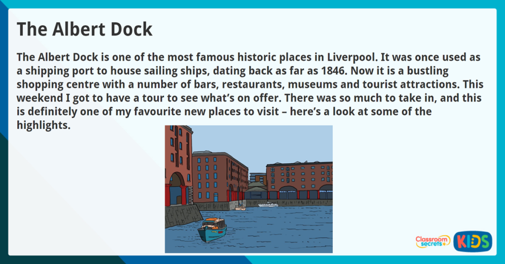 Year 3 Reading Comprehension Non Fiction The Albert Dock
