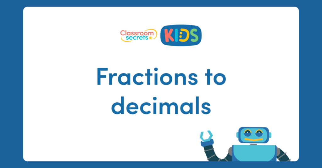 Fractions to Decimals Video Tutorial