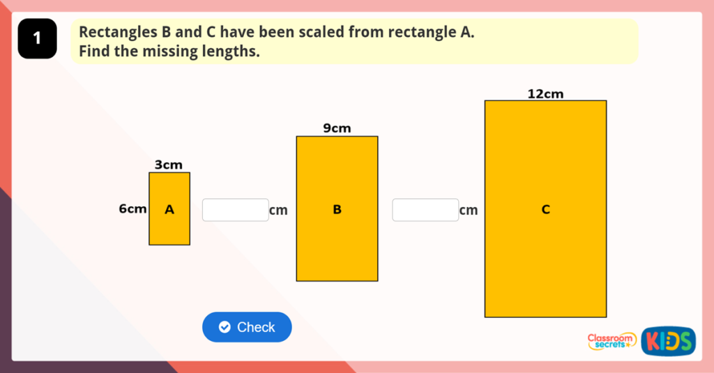Year 6 Calculating Scale Factors