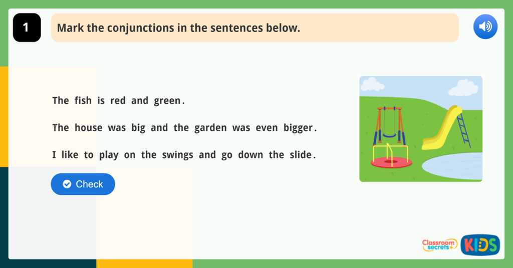 Year 1 Conjunctions Game Using And