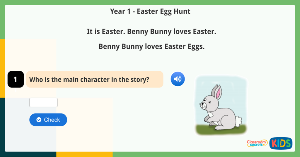 Year 1 Easter Online Reading Games