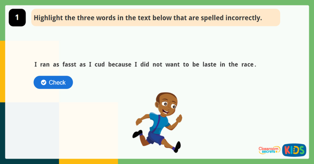 Year 2 Spelling Game 4