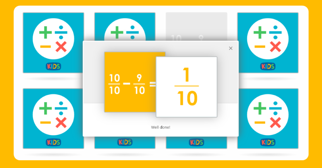 Year 3 Add and Subtract Fractions Matching Game