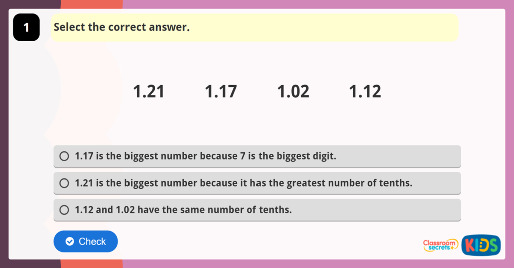 Year 4 Reasoning Test Practice 2