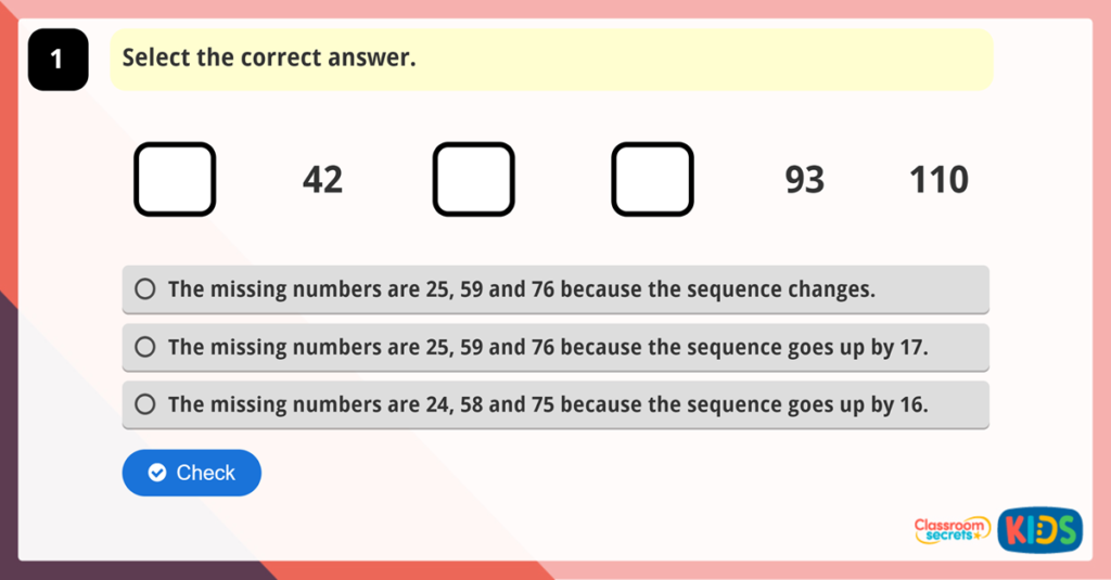 Maths Reasoning Test Practice