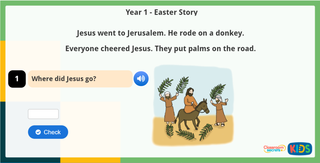 Year 1 Easter Reading Comprehension Easter