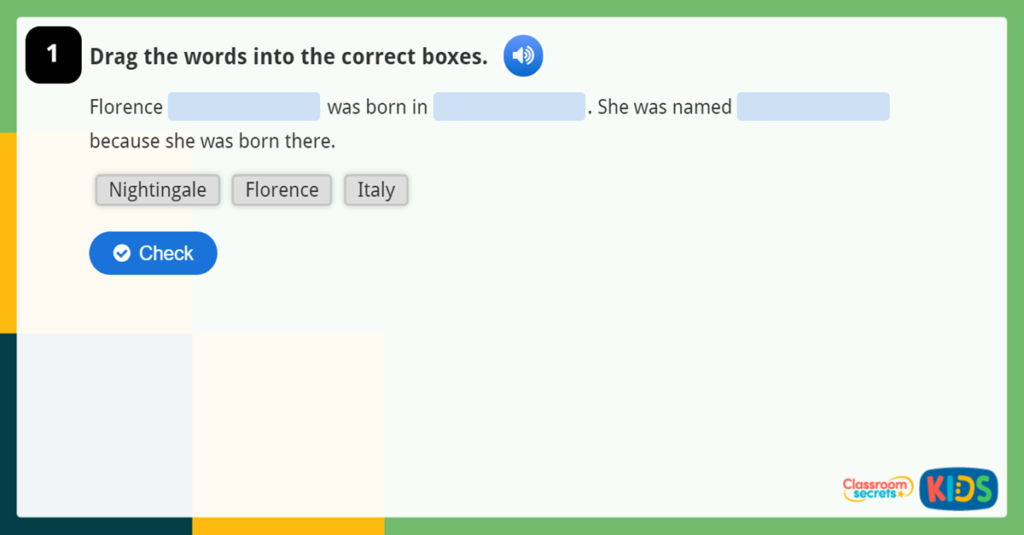 Florence Nightingale Online Quiz KS1