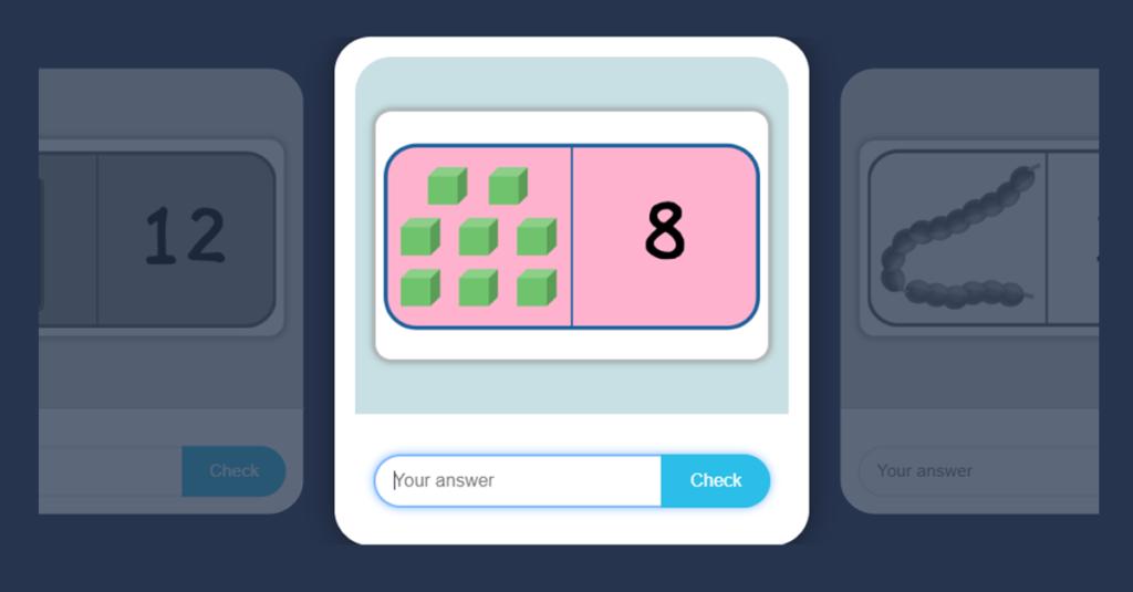 reception halving numbers game