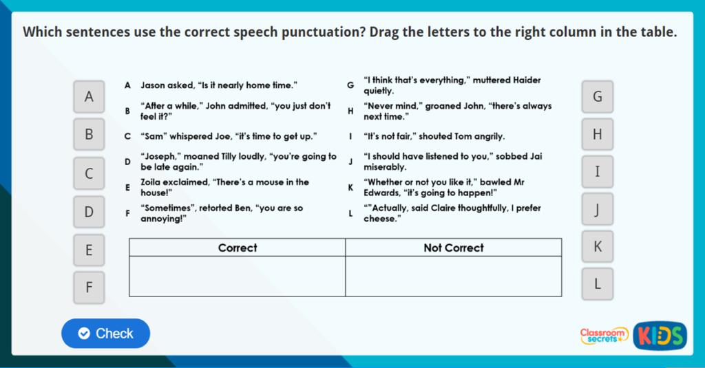 Year 3 Speech Punctuation Online Resources