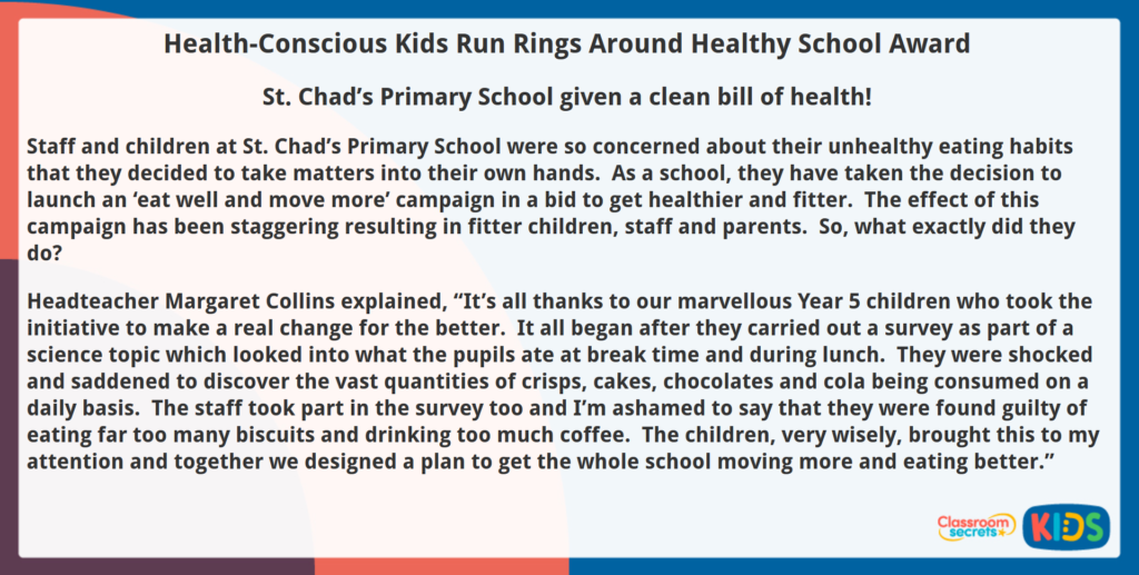 Year 5 Reading Comprehension Health-Conscious Kids