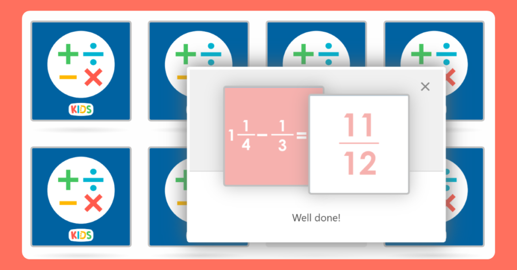 Year 6 Add and Subtract Fractions Game