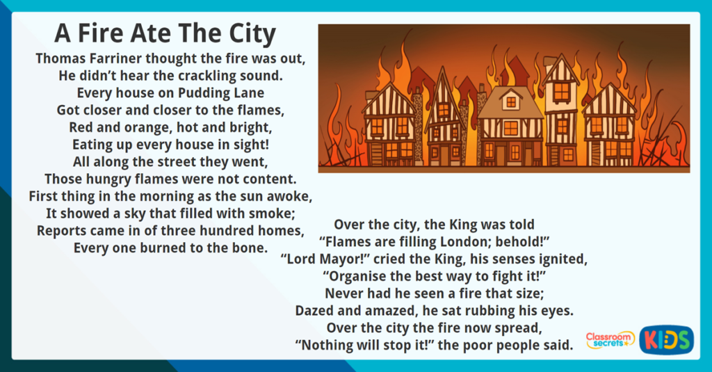 Year 3 Reading Comprehension A Fire Ate the City
