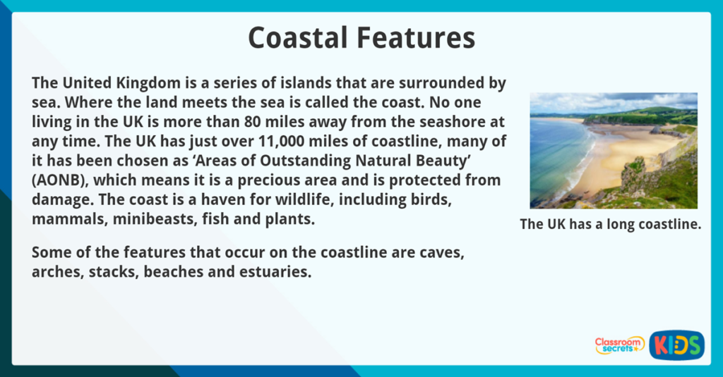 Year 3 Reading Comprehension Non Fiction Coastal Features