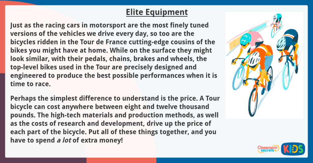 Year 6 Reading Comprehension Elite Equipment - Tour de France