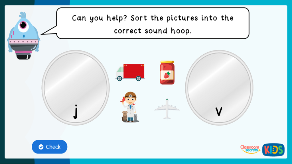 Phonics Match Pictures to Sounds Game 1