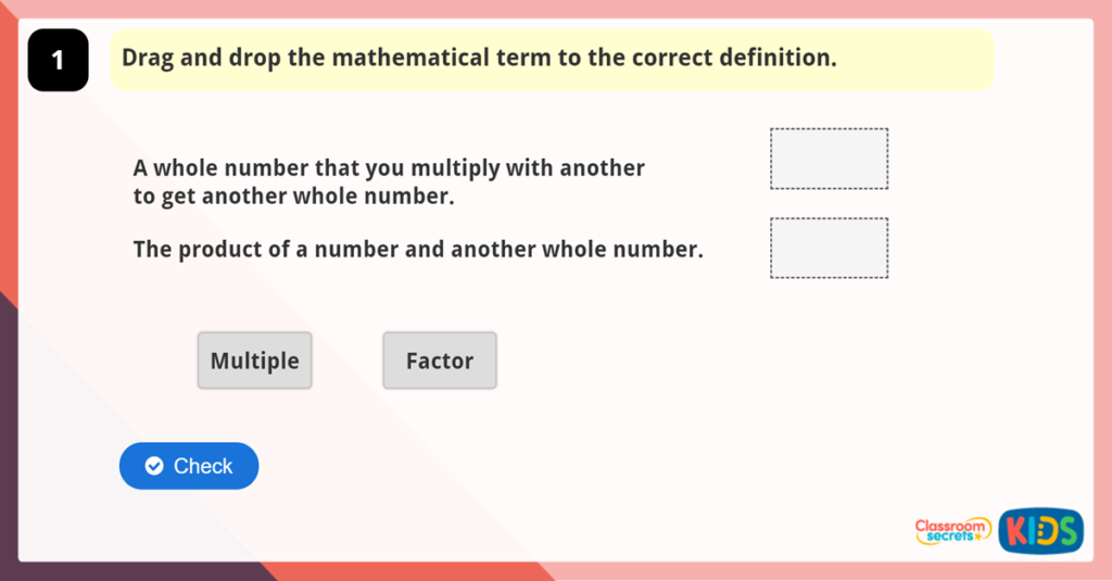 Year 5 Multiples and Factors