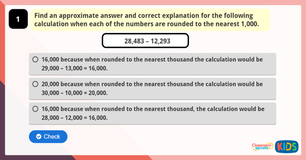 Round to Estimate and Approximate Reasoning