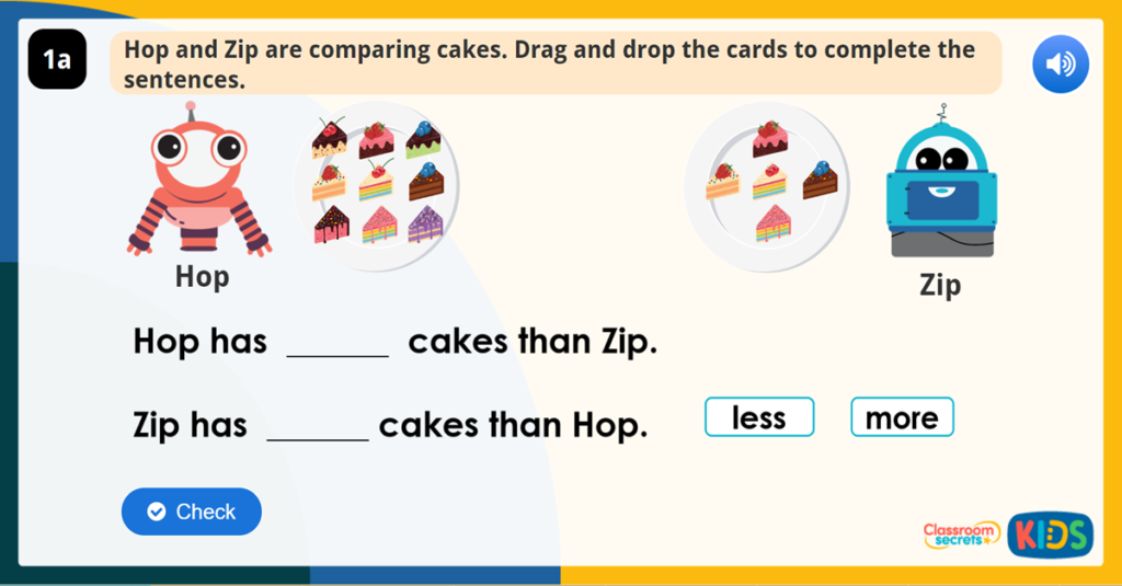Compare Objects within 50 Reasoning