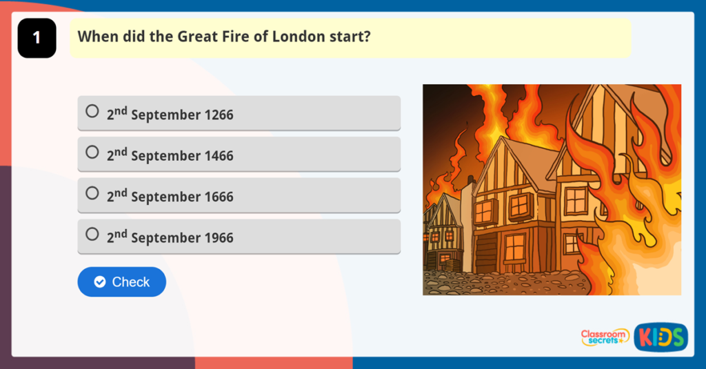 Year 1 Great Fire of London Quiz
