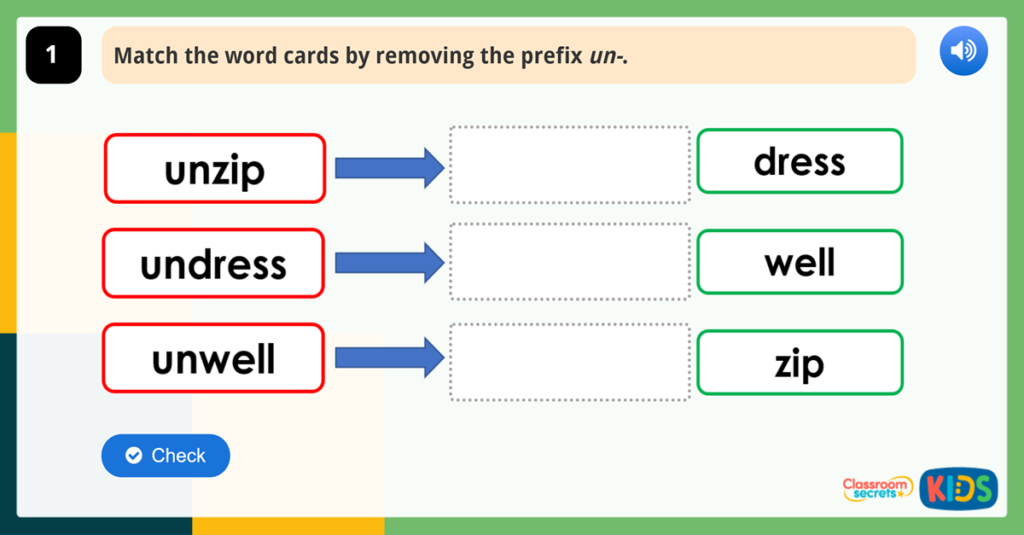 Year 1 Prefixes Game