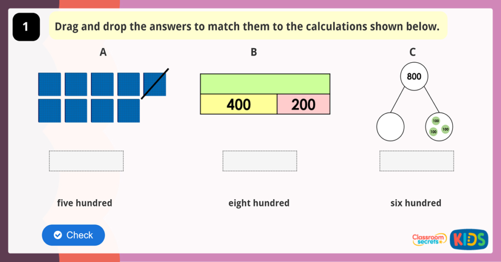 Add and Subtract Multiples of 100 Game
