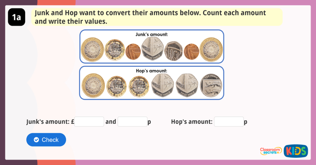 Converting Money Reasoning