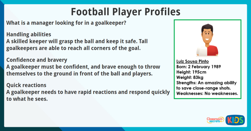 Reading Comprehension Football Player Profiles