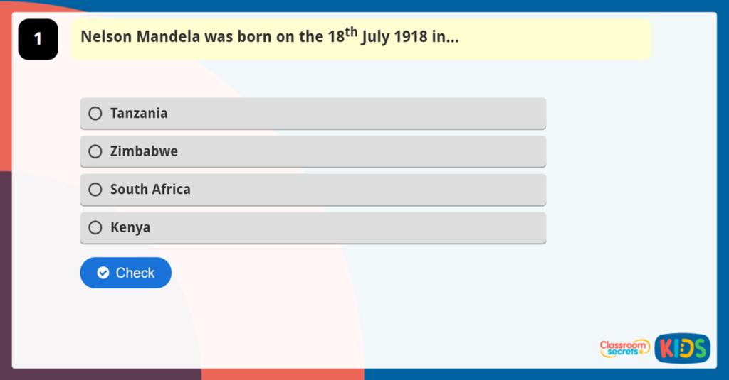 Nelson Mandela Online Quiz