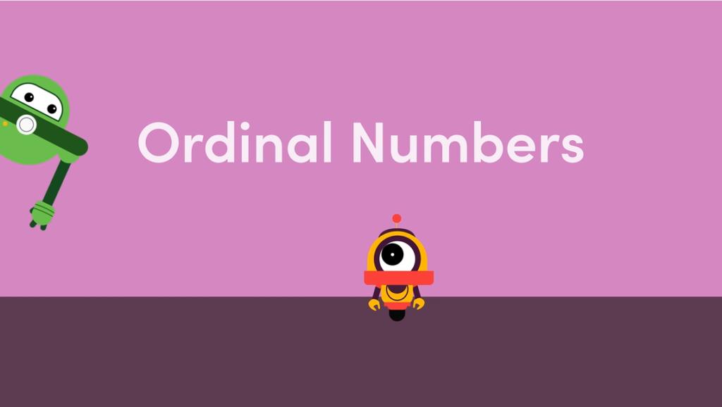 Year 1 Ordinal Numbers Games