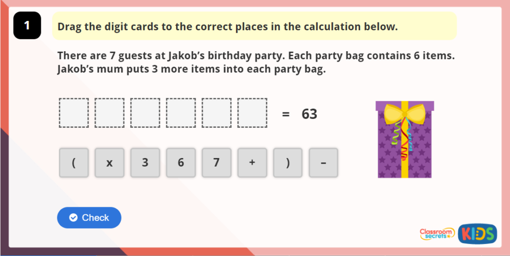 Year 6 Order of Operations Online Games