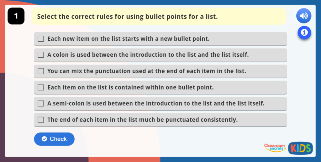 Bullet Points Online Resources