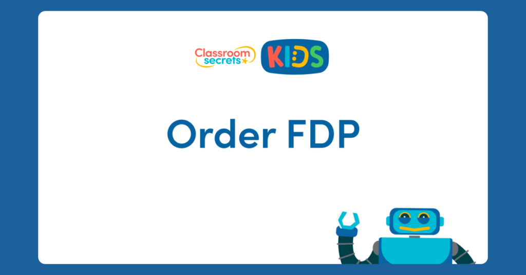 Year 6 Order FDP Video
