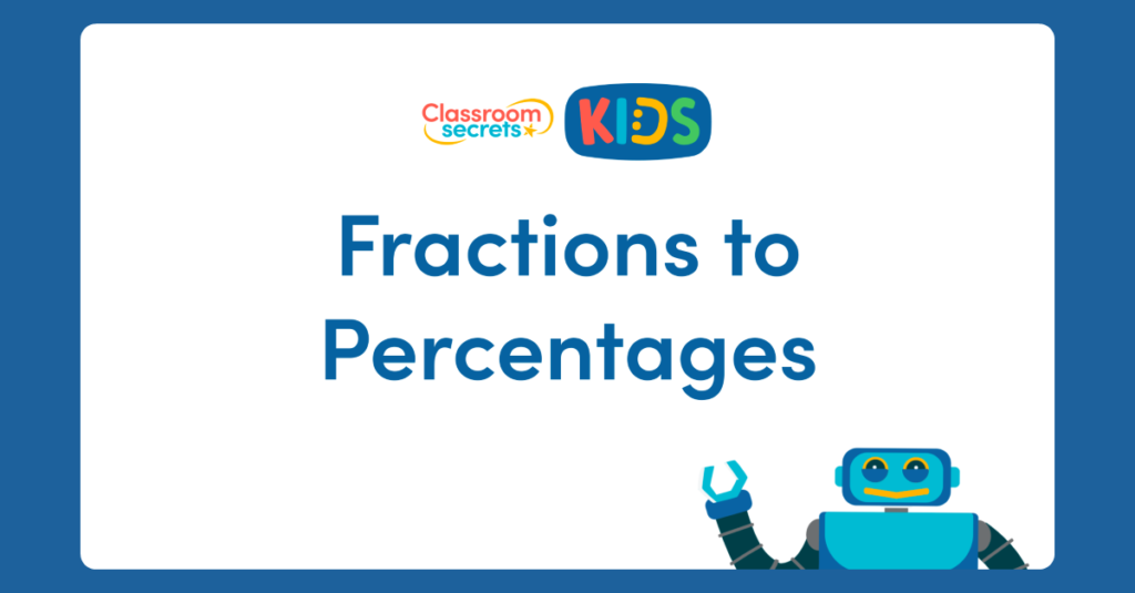 Year 6 Fractions to Percentages Activity