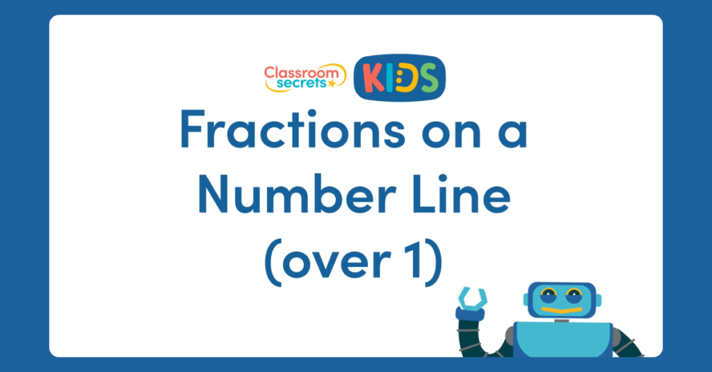 Year 3 Fractions on a Number Line Over 1 Activity