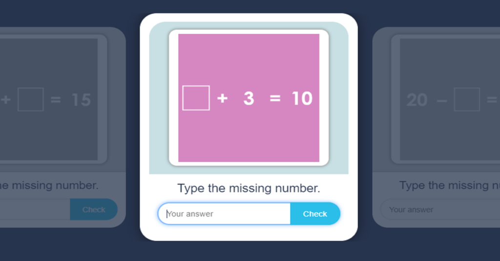 Number Bonds within 20 Flash Cards Activity