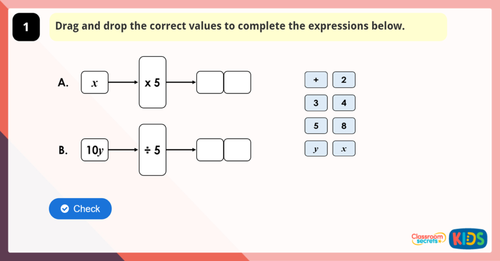 Year 6 Forming Expressions Game