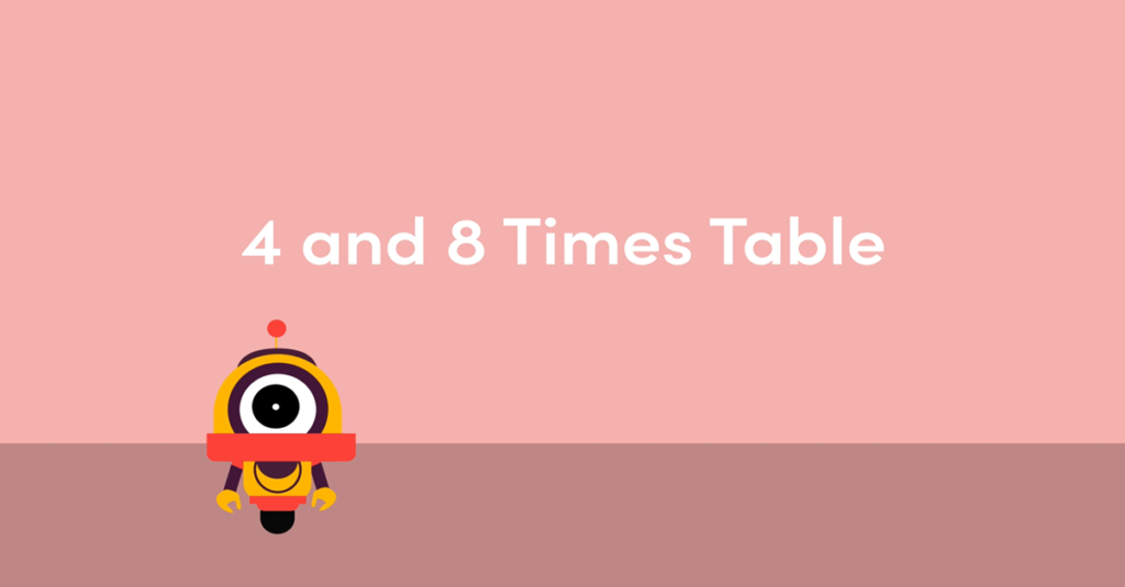 Year 3 4 and 8 Times Table Activity