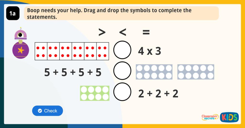 Year 2 Multiplication Symbol Game